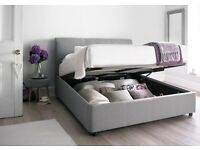 Brand new king size ottoman storage bed- upholstered cool grey
