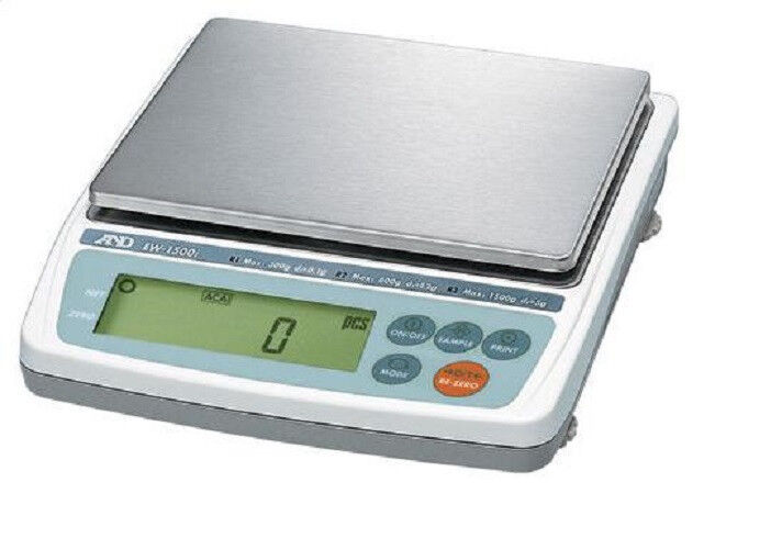 A&D EK-600i Precision Lab Balance Compact Scale 600x0.1g,NTEP,Legal For Trade