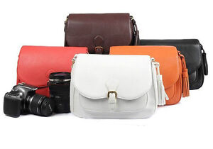 Leather-Tassel-Satchel-Canon-Nikon-Pentax-Camera-Shoulder-Messenger-Bag-Insert