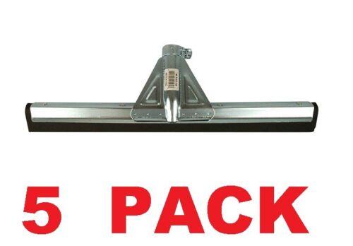 """Commercial Industrial Black Moss Floor Squeegee 18"""" Metal Frame (5 PACK)"""