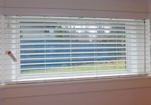 Venetian Blinds Brand new-Faux Wood White-Various sizes
