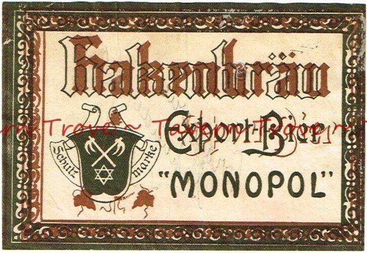 1900s FRANCE Pyrénées-Atlantiques FRANKENBRAU EXPORT BEER Label Tavern Trove
