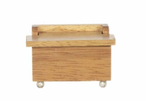 Miniature Dollhouse Toy Box Chest Oak 1:12 Scale New