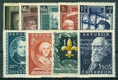 Österreich Jahrgang 1951 Michel Nr. 959-967 postfrisch
