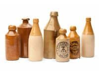 WANTED - Old Scottish pottery Ginger Beer bottles , pot lids and cream pots.