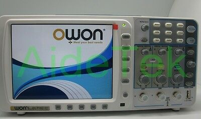 Owon Deep Memory 100mhz Oscilloscope Sds7102 1gs Large 8 Lcdbattery Fft 20m