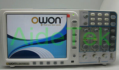 Lowest Noise Deep Memory Owon 100mhz Oscilloscope Sds7102 1gs Large 8 Lcd Vga