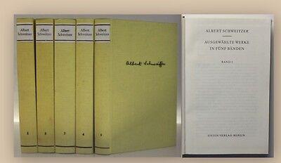 Schweitzer Ausgewählte Werke in fünf Bänden 1973 Forschung Schriften Medizin xy