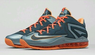 newest 802c6 75557 Nike Air Max LeBron XI 11 Low Basketball Shoes Youth size 7 Gray Mango NEW