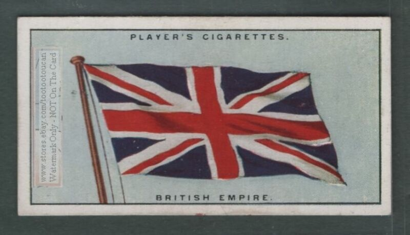 Flag Of The British Empire 1920s Ad Trade Card