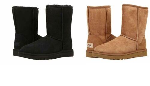 UGG CLASSIC SHORT II Women Boots Black and Chustnut *100% Authentic*