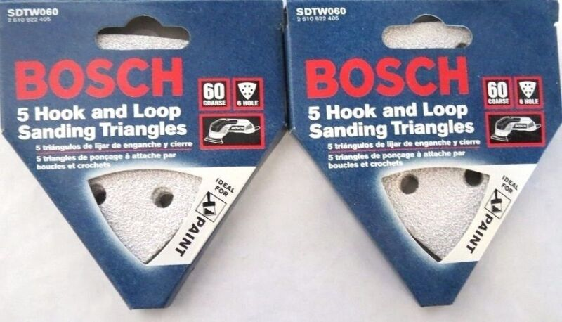 Bosch SDTW181 180 Grit 50 Pack H/&L Detail Sanding Triangles Italy