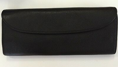 Graphic Image Jewelry Roll Black Textured Leather Excellent Condition