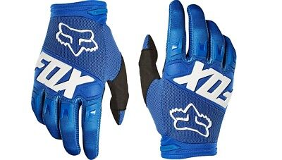 (Fox Racing 2019 Youth Dirtpaw Race Gloves Blue Motorcycle Off Road MX 22753-002)