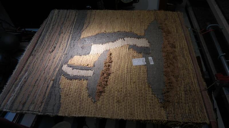 RARE Design 142 SIGNED Don Freedman Textile Fiber Art Wall Hanging Large 43 X 50