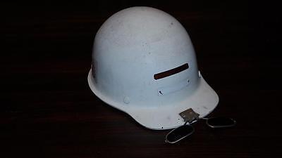 Vintage Msa Skullgard Fiber Glass Welding Hard Hat W Clip On Flash Glasses