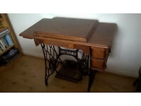 Singer sewing machine (treadle but electrified) for sale