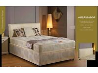 BRAND NEW KING SIZE DIVAN BED WITH LUXURY SUPER ORTHOPEDIC MATTRESS / ALSO IN DOUBLE & SINGLE