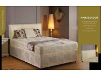 🌷💚🌷BUY IT NOW, PAY ON DELIVERY🌷💚🌷BRAND NEW DOUBLE DIVAN BASE WITH SUPER ORTHOPEDIC MATTRESS