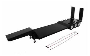 1-14-Flat-Bed-Transporter-Electric-Lifting-Ramps-Black-for-Tamiya-Semi-Truck