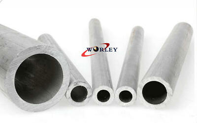 25x12x300mm Aluminum Tube Pipe Round 0.98od X 0.47id X 12 X0.26 Wall