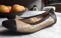 Rudsak chaussures/ballerines cuir noir et taupe, pointure 39