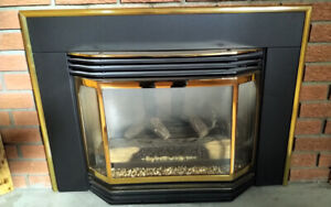 Gas Fireplace - Warnock Hersey, Gold Trims, With Fan