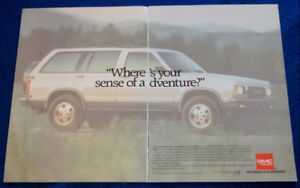 1992 GMC JIMMY SLT 4 X 4 SUV TRUCK AD - RETRO ANONCE CAMION 90S