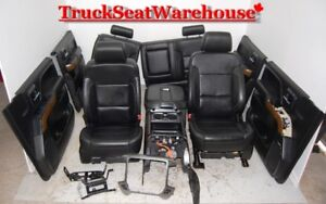 Chev Truck 2015 Silverado LTZ GMC Sierra BLACK LEATHER Seats