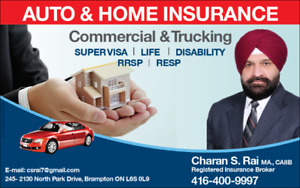 AUTO/HOME/TRUCK/BUSINESS INSURANCE-416-400-9997