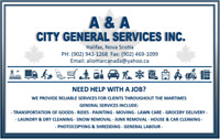 GENERAL SERVICES - Transportation, Delivery, Cleaning & More!