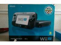 Nintendo wii u premium with mario kart and Nintendo land