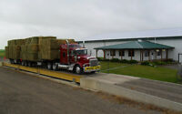 Custom Hay and Straw Hauling throughout AB, SK and BC