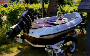 (REDUCED) Marine Logic Dinghy with 25HP Mercury and Trailer