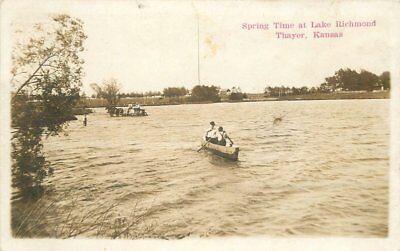 Boats C-1910 Neosho County Thayer Kansas Spring Time RPPC Real photo 5078