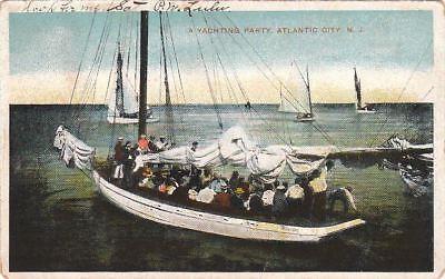Postcard A Yachting Party Atlantic City NJ 1907 - Party City Nj