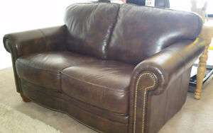 Real Leather Love Seat