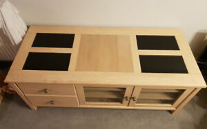 Solid wood TV cabinet and coffee table