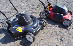 Black & Decker (barely used) and Homelite Electric Lawn Mowers