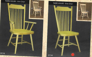 Mennonite Made Farm House Chairs