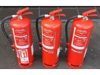4 x 9 liter Commercial Fire Extinguishers water To BS5423 Standard Working Pressure 11 Bar