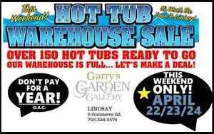 1 Year - No Payments! Shop Hot Tubs @ Garry's Today!