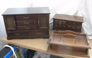 2 Wood Jewellery boxes