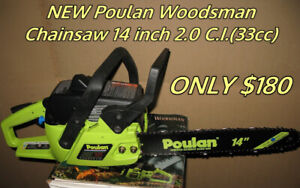 Poulan Gas Chainsaws 14 inch 2.0 C.I.(33cc) ONLY $180ea