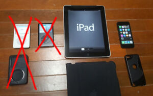 Apple iPad + iPod Shuffle (see details for prices)
