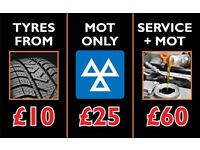 MOT, Tyres, Servicing Mechanics at Trade Prices