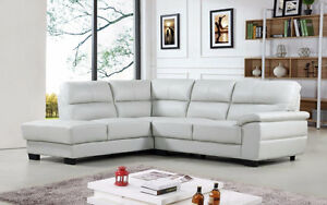 Conway Genuine Leather Sectional ONLY $2099 TAX IN!