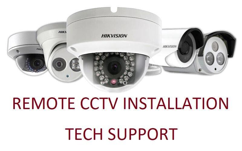 Remote Setup CCTV Security Camera System Lorex Dahua Hikvision Uniview 4 Cameras