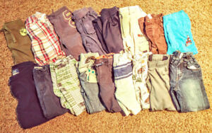 Toddler/boys pants selling a lot, sizes 3 to 6.