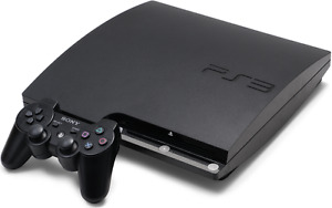 Black 120 GB Sony PS3 Slim (CECH 2101A) with controller